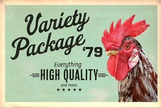 Variety Package '79 - www.redloto.com #font #rooster #everything #retro #redloto #vintage #poster #quality #high #package