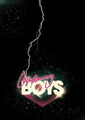 Ordinary Boys Henrik Stelzer 2009 #neon #ordinary #design #graphic #retro #future #lightning #boys #80s #dark #typography