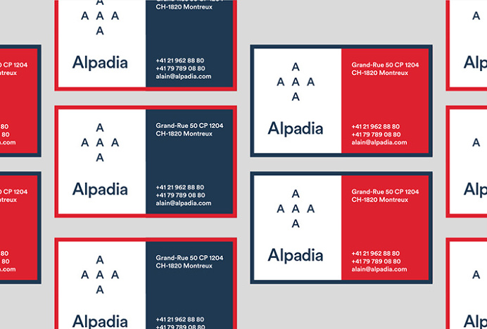 Alpadia Language Schools by Jorge León #brand design #stationery