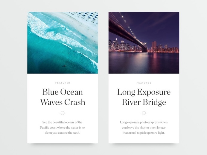 Article Cards by Oliur