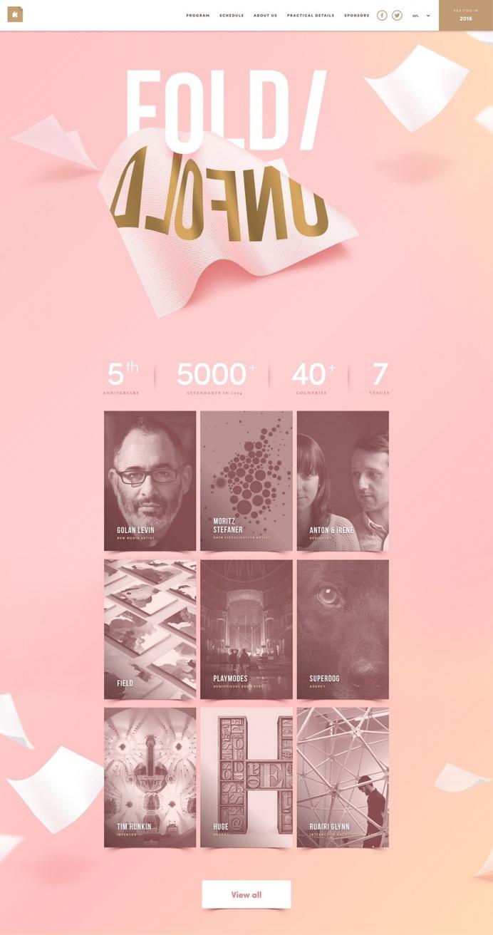 Kikk international design designer festival belgium belge 2015 webdesign modern minimal pink inspiration by mindsparklemag