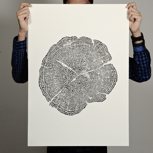Tree of Life Print #tree #print #design #graphic #fingerprint #life