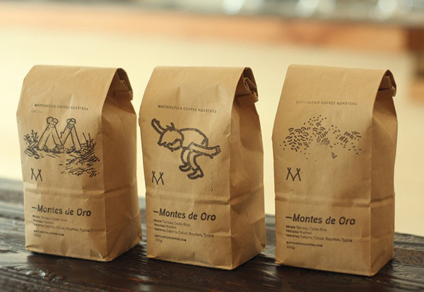 Matchstick Coffee #packaging #print #design #graphic #illustration #coffee