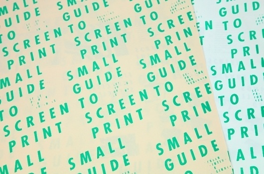Laia Sacares. Small Guide to Screen Print #poster
