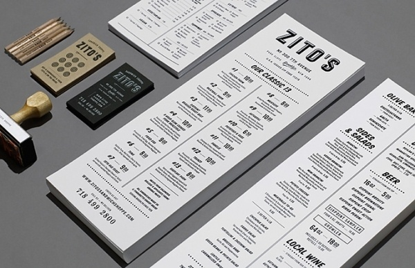 Art of the Menu: Zito's #menu #identity #branding