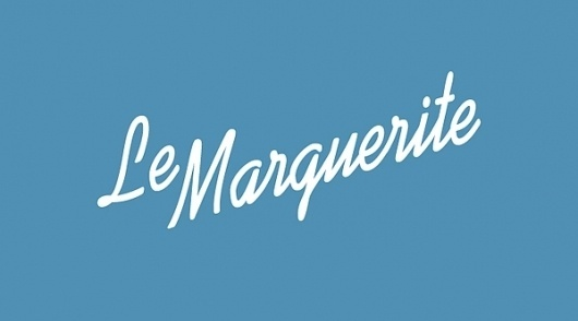 Le Marguerite on the Behance Network #chocolate #logo #typography