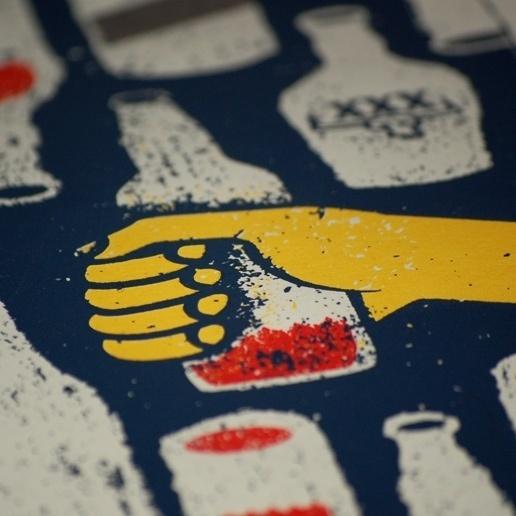 doe-eyed   illustration #beer #screenprint #hand