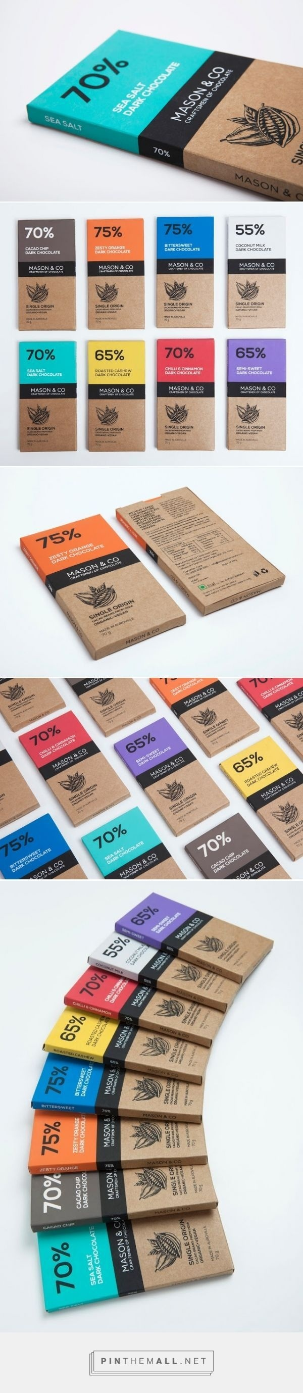 Mason & Co Chocolate Bars #illustration #type #colour #packaging