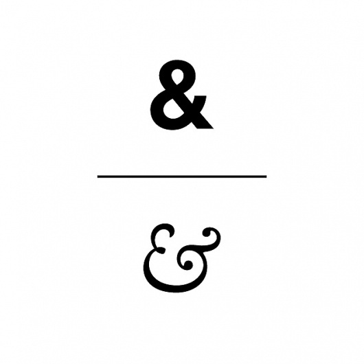 One Plain, One Fancy #lettering #design #glyph #ampersand #and #plus #character #typography