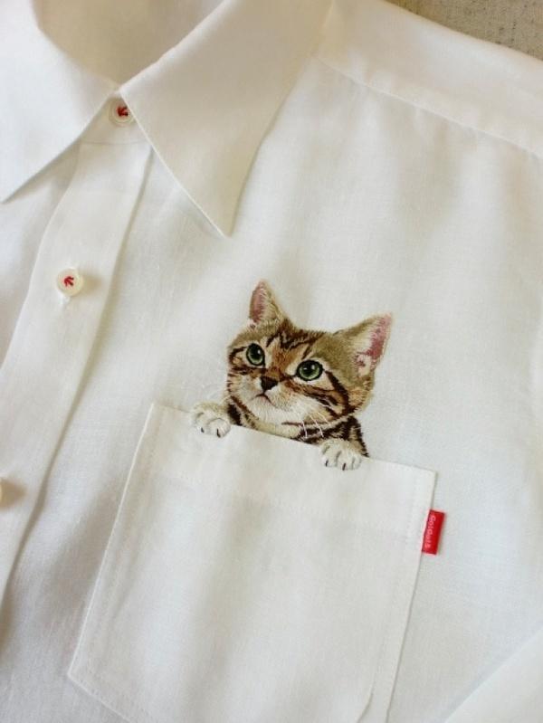 Дресс кот, Cat shirt #kitten #cat #shirt #pocket #fashion