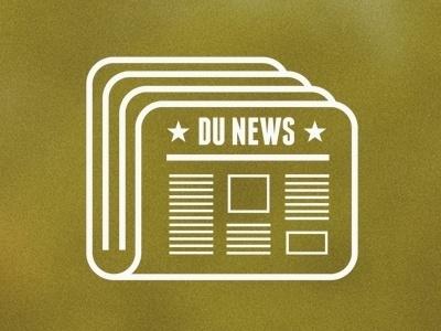 Dribbble - DU News by John Dozier #line #news #vector #icon #paper