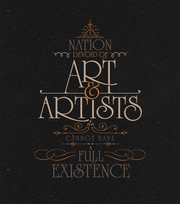 Typographic Ataturk Quotes #type