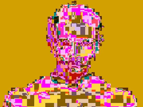 by pixel noizz #portrait #glitch #pixelart