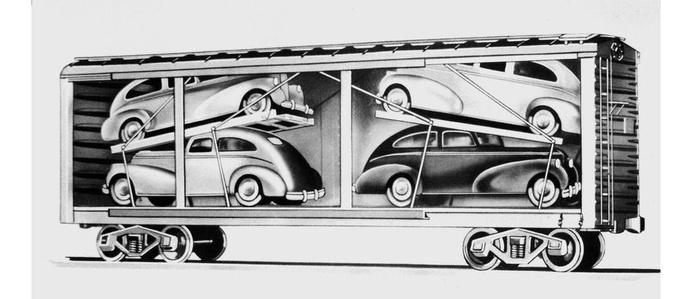 0cartrainloading-002.jpg #train #illustration #cars #transportation