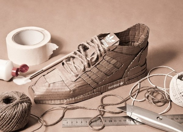 Adidas Originals with Cardboard3 #adidas #cardboard #originals #sneakers #art #paper