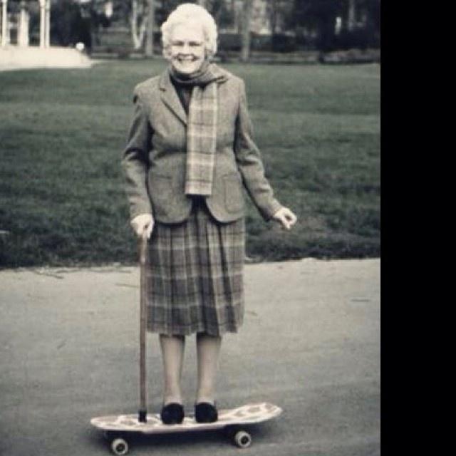 The Academy NY #skateboard #grandma