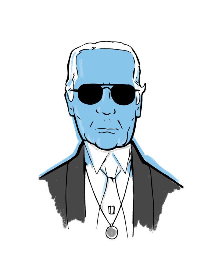 Karl #fashion #largerfeld #illustration #portrait