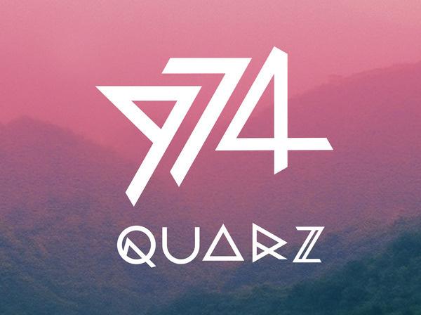 QUARZ 974 on the Behance Network #font #quarz #type #metal #typography