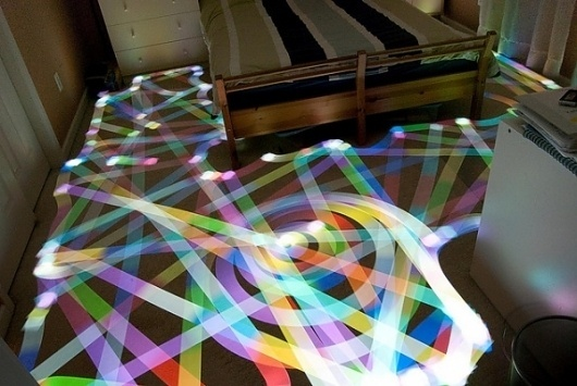 Light Painting with Roomba Vacuum Cleaners   Colossal #roomba #light #drawing #painting