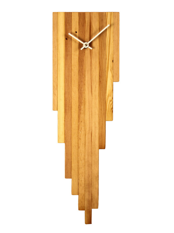 Persistence of Pine Wall Clock Gilt Home #wood #clock