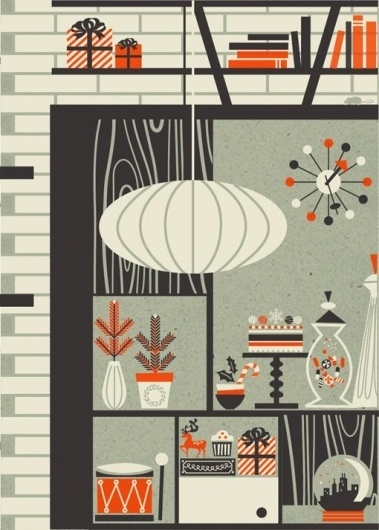 design work life » cataloging inspiration daily #christmas #print #illustration