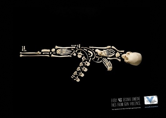 Every 43 Seconds | Fubiz™ #skull #creativity #war