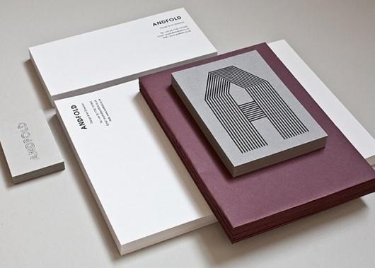 Andfold Minimal Stationery Set #system #identity #typography