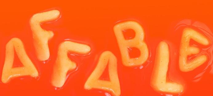 Kaldor | Affable #project #word #design #food #affable #kaldor #type