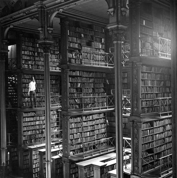 1874 - Interior of the Public Library of Cincinnati #interior #books #book #photography #library