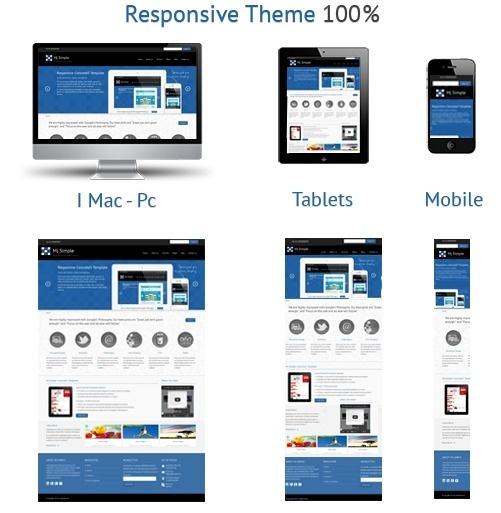 Mj Simple - Responsive Concrete5 Theme #gallery #business #portfolio #theme #corporate #blue