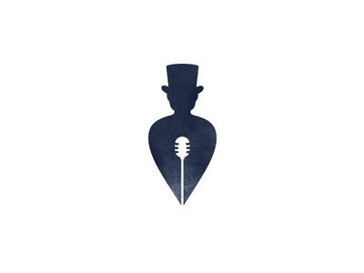 Songwriter Logo Mark #loggia #mic #songwriter #dribbble #writer #cylinder #song #myloggia #microphone #brand #hat #minimal #identity #recording #logo