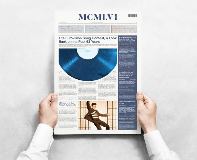 MCMLVI (1956) A2 Broadsheet Design