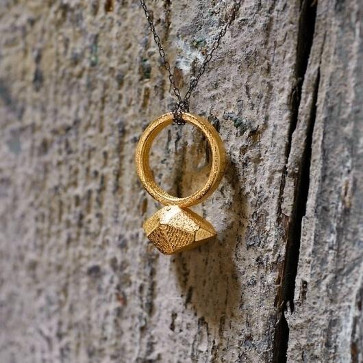 the future future — large gold rock #design #thefuturefuture #printing #jewelry #ring #3d