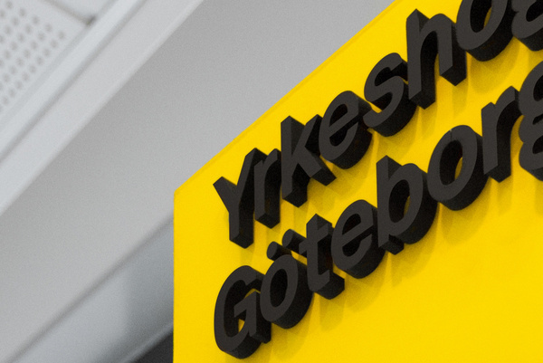 Lundgren+Lindqvist Yrkeshögskolan Göteborg Logo #signage #type #typography