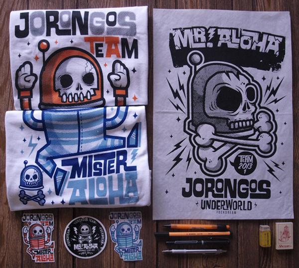 MR. ALOHA on Behance #serigrafa #stickers #print #ilustracin #cartel #skull