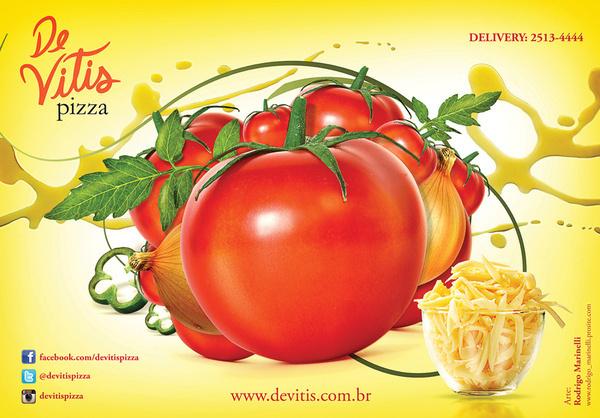 Pizza #ads #tomatoe #cheese #marinelli #rodrigo #pizza #brazil #campinas