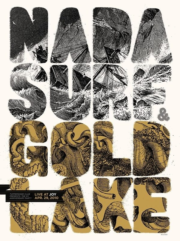 Nada Surf Gold Lake screen print poster #delicious #design #league