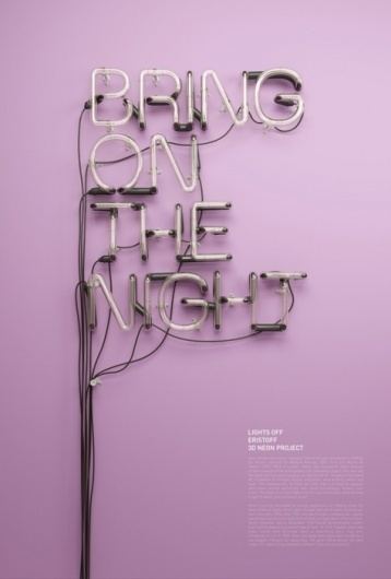Typeverything.com - 3D Neon by Rizon Parein (via... - Typeverything #neon #rizon #parein #typography