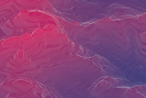 Closeup of Twin Peaks #topology #contours #san #poster #francisco