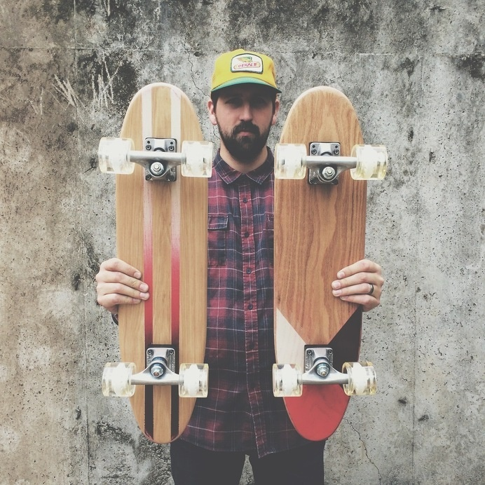 Worlds Greatest Skate Co. #beard #geometric #grid #skate #skateboard