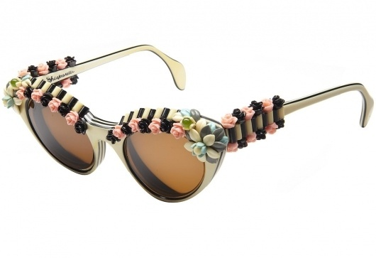 Fashion and Design - T Magazine Blog - NYTimes.com #schiaparelli #sunglasses #roses #vintage #flowers