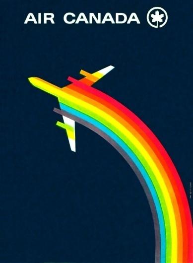 1960's Vintage Air Canada Poster #vintage #logo #poster #retro #airplane #plane #air canada