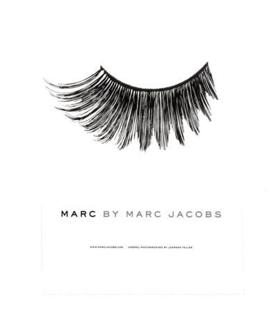 marc by marc jacob #statement #white #graphic #bold #black #illustration #brand #identity #lashes #poster #and #advert #typography