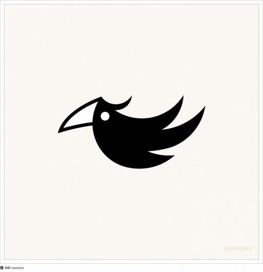 black cockatoo logo #resinism #black #bird #cockatoo #logo