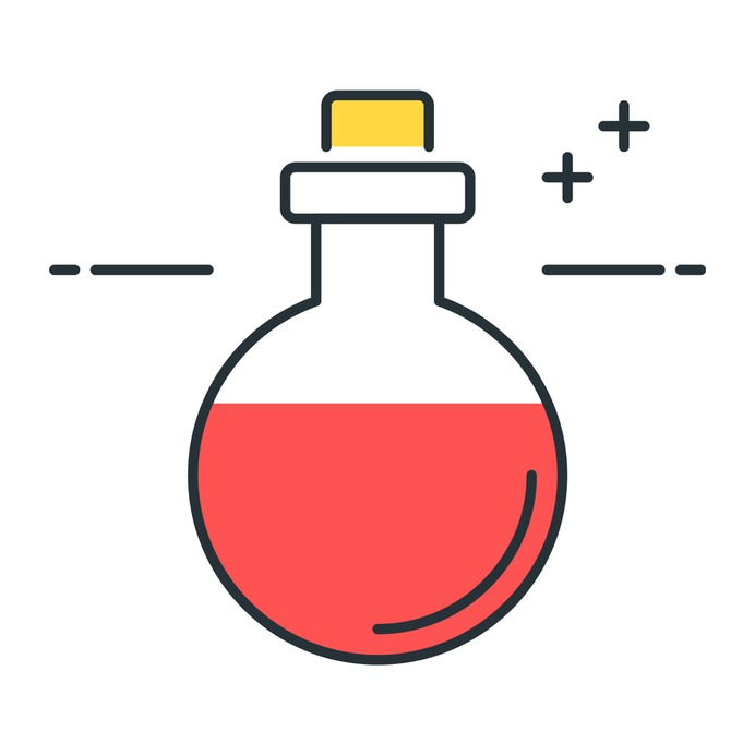 See more icon inspiration related to potion, toxic, magic, antidote, healthcare and medical, spooky, terror, scary, spell, witchcraft, fear, remedy, entertainment, dangerous, education and drink on Flaticon.