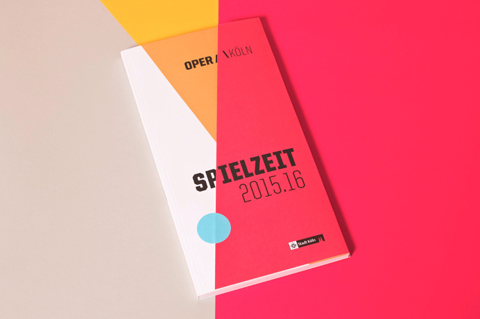 #opera #cologne #program #editorial #cut #slanted #colour #diagonal #typography #cover