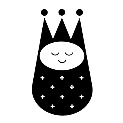 Whimsical logo for Little Majesty, infant clothes designed by Morton Goldsholl and John Webber of Goldsholl Associates 1960 #crown #trademark #modern #icon #infant #identity #mid #century #logo #toddler #baby