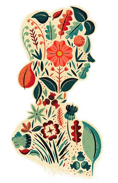 Visual Graphic Graphic Design Inspiration Blog #illustration #pattern #floral
