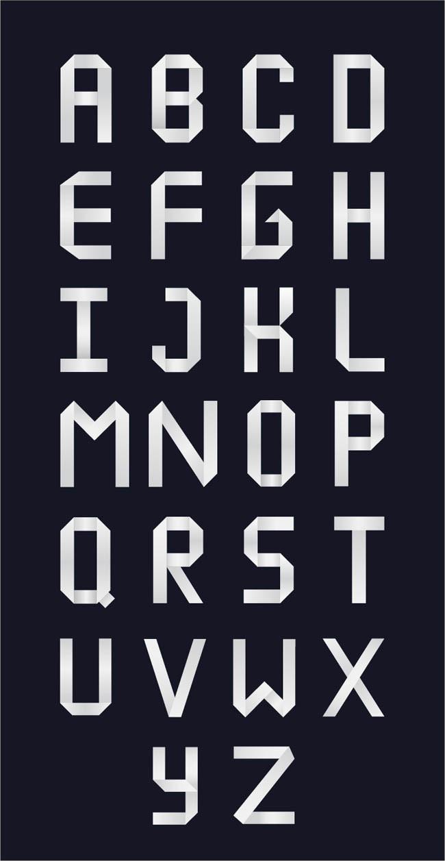 Creiden : Free Origami Style Font