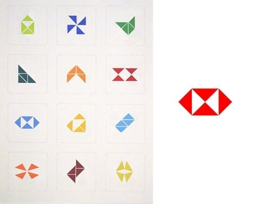 Logo tangrams   Logo Design Love #logo #identity #tangrams
